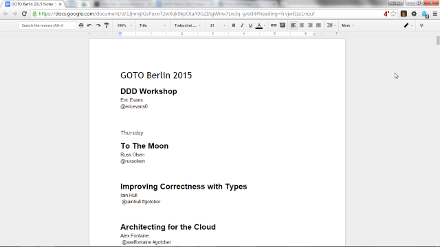 GOTO Berlin conference notes